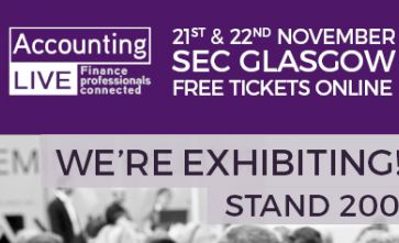 We're exhibiting at Accounting Live